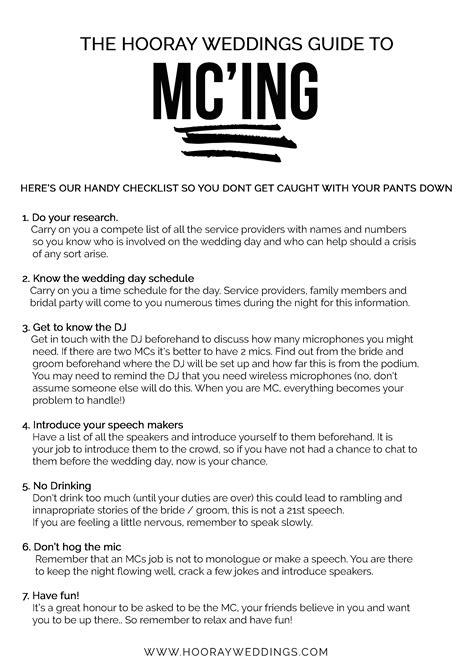 wedding mc checklist template 100 wedding mc checklist template 26 images of wedding