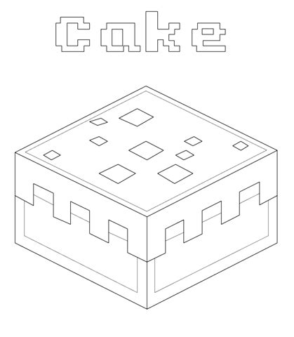 minecraft coloring pages cake minecraft cake coloring page free printable coloring pages