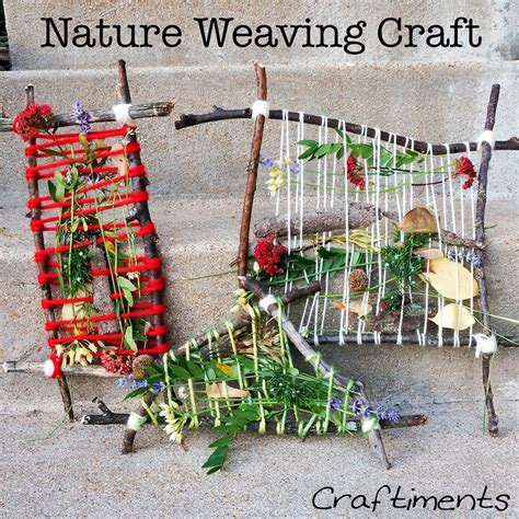 nature craft for craftiments summer c nature weaving craft and