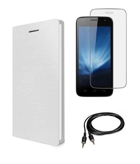 Tempered Glass Nokia X2 arav store white flip cover for nokia x2 dual with tempered glass screen guard aux cable
