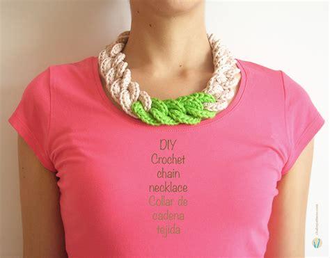free pattern necklace crochet crochet chain necklace collar de cadena tejida