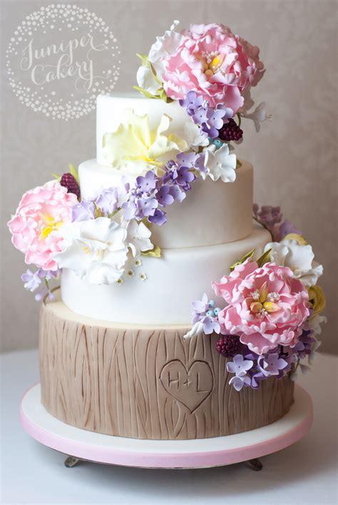 Wedding Cake Decorating Step By Step tree bark cake a step by step tutorial on craftsy
