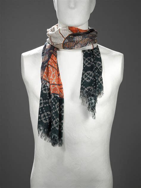 patrizia pepe keffiyeh scarf in jersey printed soft