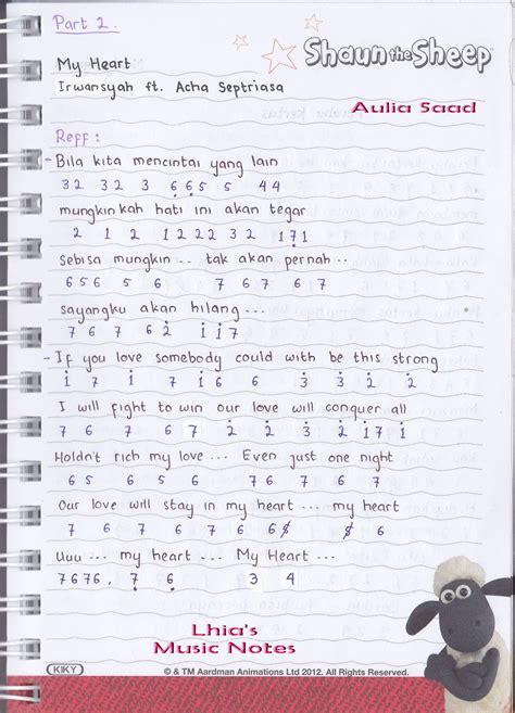 belajar kunci gitar my heart pencarian not angka not angka lagu my heart irwansyah
