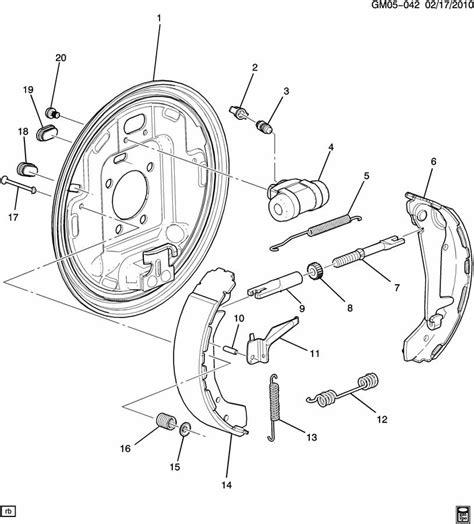 chevy drum brakes diagram 2005 chevy equinox rear drum brake diagram