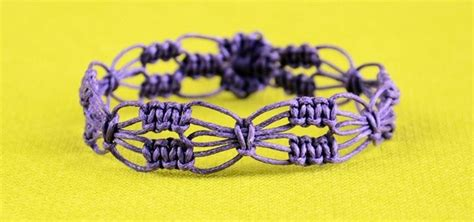 how to make flower bracelets with diy easy square knot flower bracelet 171 jewelry wonderhowto