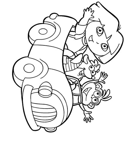 free coloring pictures dora explorer coloring pages dora explorer