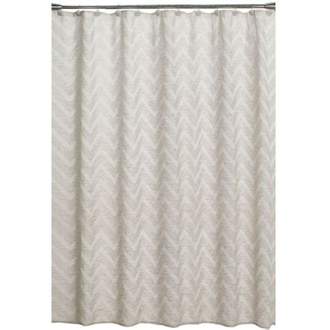 home depot shower curtains saturday knight chevron 70 in w x 72 in l fabric shower