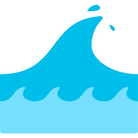 emoji of a wave chords water wave emoji for facebook email sms id 7544