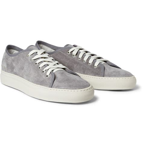 sneakers mens lyst common projects tournament suede sneakers in gray