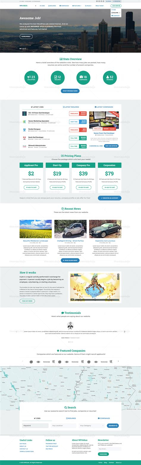 themeforest company profile wpjobus job portal resume and company profile by themes
