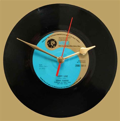 donny osmond puppy donny osmond puppy vinyl clocks