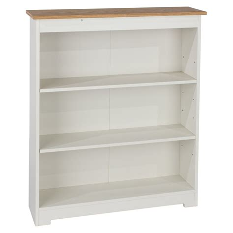 Abdabs Furniture Colorado Warm White Low Wide Bookcase Wide White Bookcase