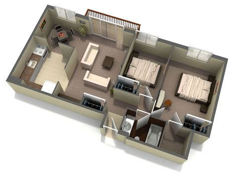 700 square feet house plans interior 3d two bedroom house layout design plans 3 of 17 photos