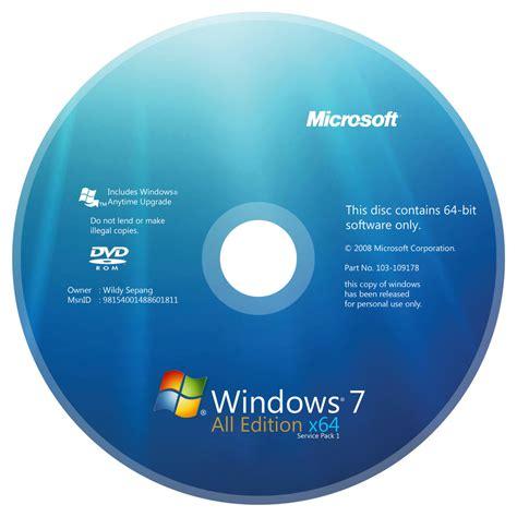 Cd Microsoft windows 7 aio x64 dvd cover by dyrealsa on deviantart