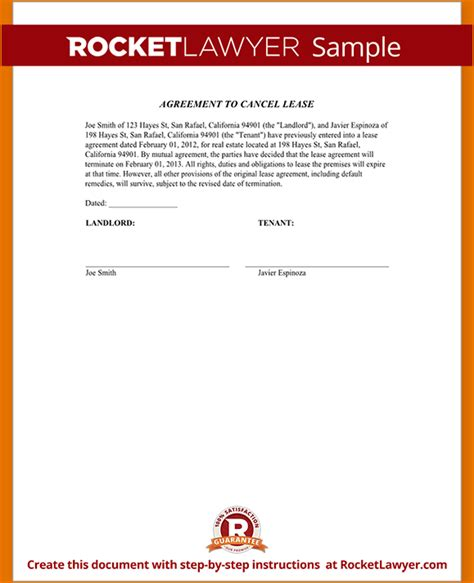 letter cancelling advertising contract 6 rent agreement letter printable receipt