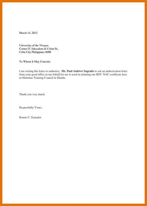 authorization letter sle diploma authorization letter get diploma 28 images