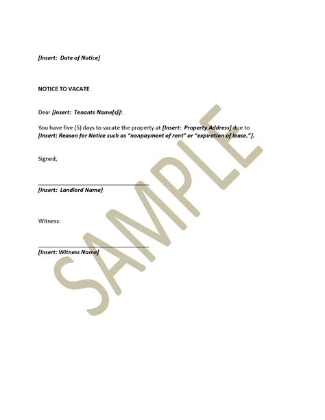 Moving Lease Letter sle letter to notify landlord of moving image titled