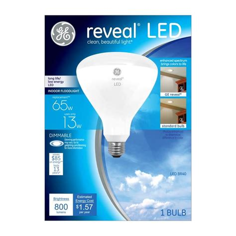 Ge Reveal Led Light Bulbs Shop Ge Reveal 65 W Equivalent Dimmable Color Enhancing Br40 Led Flood Light Bulb At Lowes