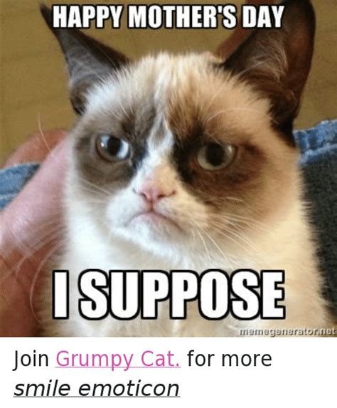 Mothers Day Memes - happy mothers day suppose nemegeneratornet join grumpy cat