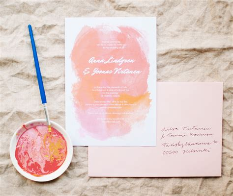 watercolor wedding invitations diy free printables pink purple blue watercolor invitations diy weddings magazine