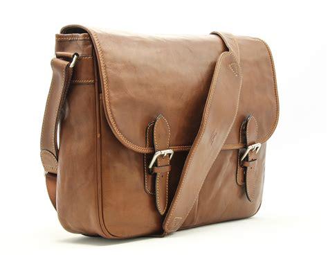 tony perotti lorenzo leather laptop messenger satchel bag