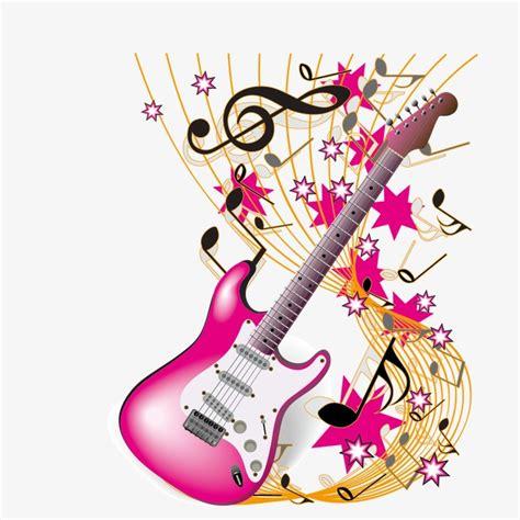 imagenes vintage de notas musicales vector guitarra y notas musicales guitarra nota musica