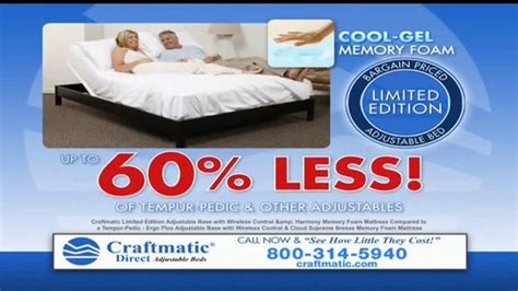 craftmatic tv commercial bargain priced adjustable bed ispot tv