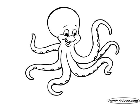 octopus coloring page