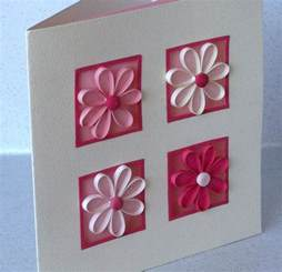 paper cards quilled birthday card