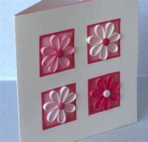Card Patterns Handmade - paper cards quilled birthday card