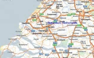 rotterdam netherlands on map pin flag netherlands on