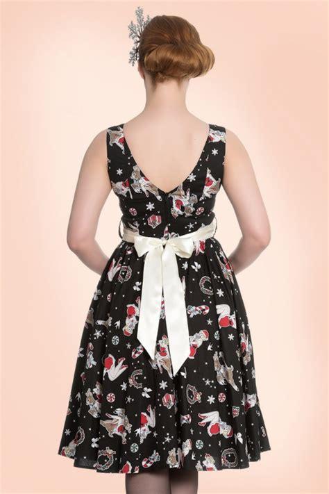 bunny swing 50s blitzen swing dress in black