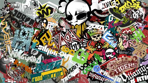 jdm sticker wallpaper sticker bombed apb logos creations gamersfirst forums