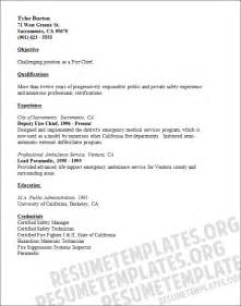 Fire Chief Resume Template Highlight Your Fire Chief