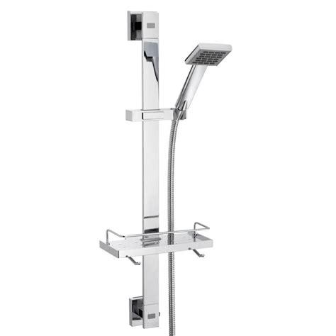 Rail Shower by Caroma Wels 3 80 X 700mm Chrome Quatro Rail Shower