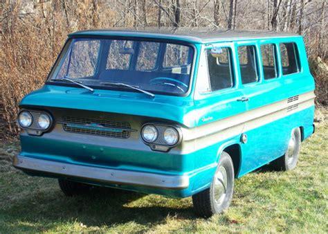 chevrolet corvair van camper  teal  sale chevyvan chevy greenbrier rampside vw bus