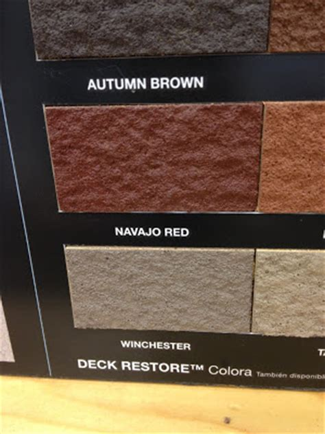 deck restore color chart car interior design