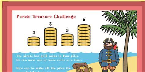 pop up math probloms card template a4 ks1 pirate treasure maths challenge poster maths