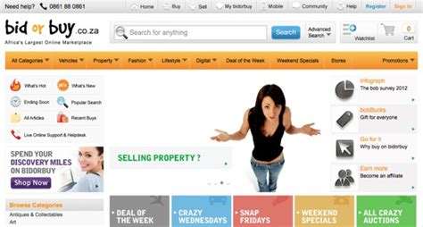 bid or buy shopping 12 top shopping websites in south africa bloghug