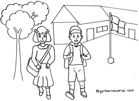 kartun gambar lomba 17 agustus gambar mewarnai kembali ke sekolah binatang pinterest