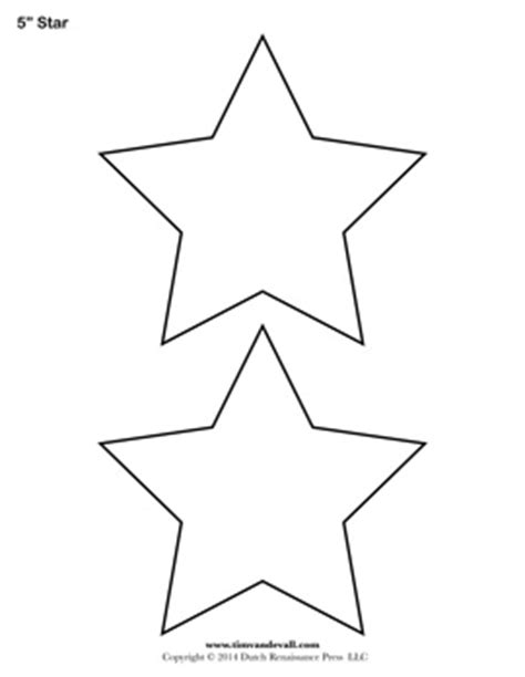 printable star templates | free blank star shape pdfs