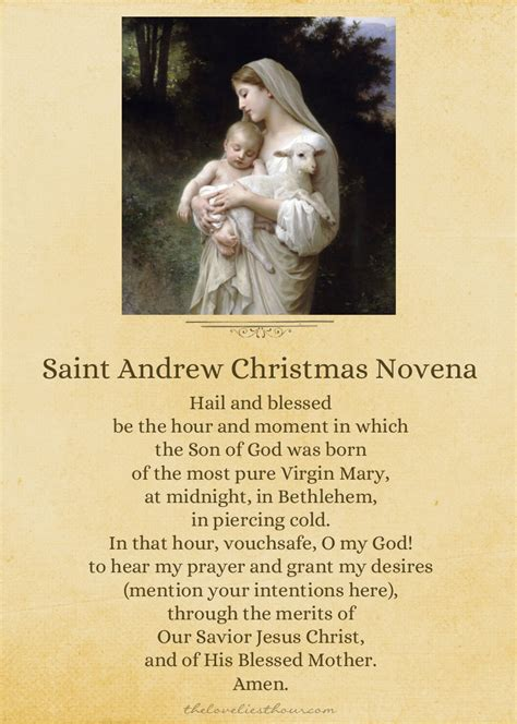 Printable Christmas Novena | st andrew christmas novena printable the loveliest hour