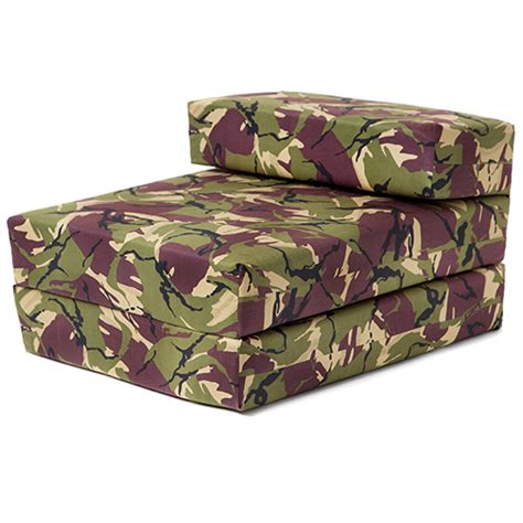 Camouflage Futon single chair bed jungle camouflage z bed foam sofa futon