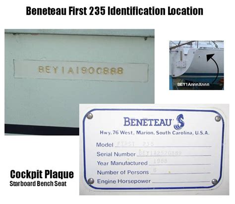 boat hull id beneteau first 235 history directory info background