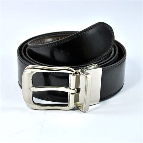 beautiful stylish black leather silver buckle belt buy