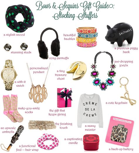 stocking ideas stocking stuffers bows sequins