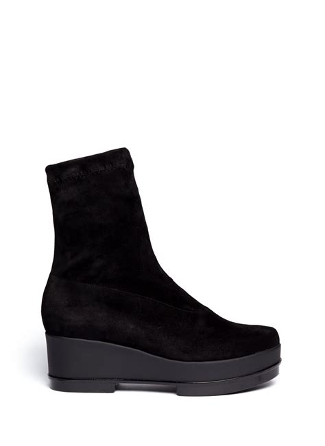 robert clergerie you suede ankle boots in black lyst