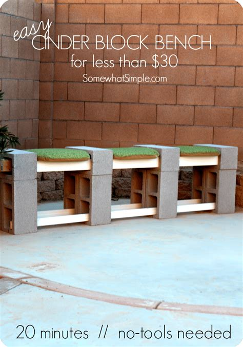 how to build a cinder block bench how to make a cinder block bench somewhat simple