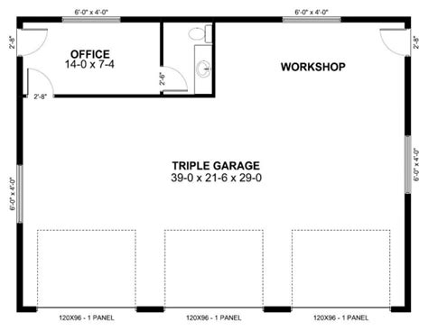 garage floor plans with workshop garage plan 90882 at familyhomeplans com